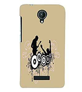 PRINTSWAG MUSIC GROUP Designer Back Cover Case for MICROMAX CANVAS SPARK Q380