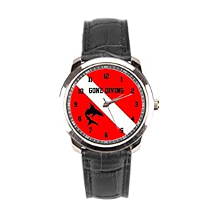 sanYout Wrist Watches For Men Shark Leather Watches Men Diver Mens Wrist Watches Diving