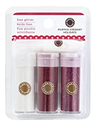 Martha Stewart Crafts Fine Glitter 3 Pack Valentines Day