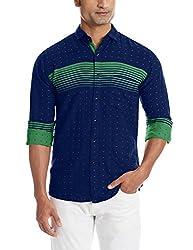 Dennison Men's Casual Shirt (SS-16-415_42_Green)