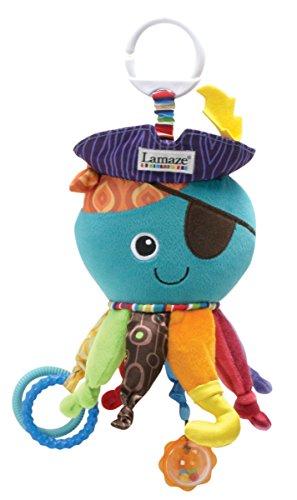 Lamaze-Baby-Spielzeug-Captain-Calamari-die-Piratenkrake-Clip-Go-hochwertiges-Kleinkindspielzeug-Greifling-Anhnger-zur-Strkung-der-Eltern-Kind-Bindung-ab-0-Monate