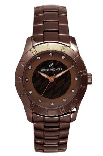 Daniel Hechter DHD 5UM - 004/Women's Quartz Analogue Watch-Brown Face-Brown-Plated Steel Bracelet