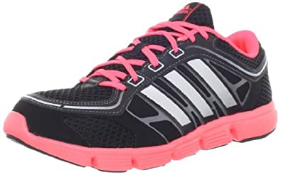 adidas Women's Jett Breeze Running Shoe,Black/Turbo/Metallic Silver,8 M US