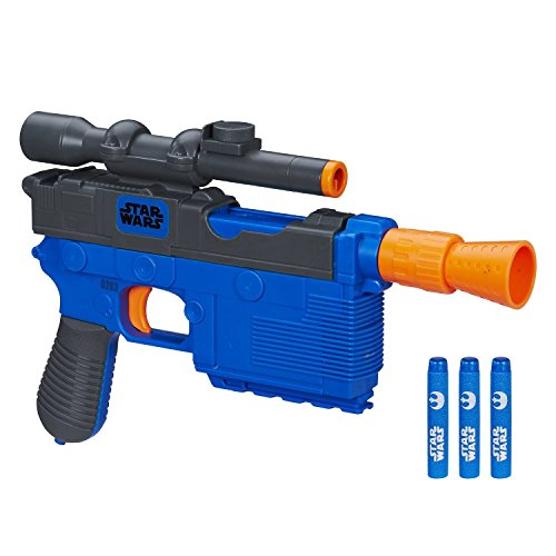 Nerf Star Wars Episode VII 4 Darts Nerf Han Solo Blaster Toys