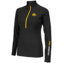Iowa Hawkeyes Ladies Soho Half Zip Long Sleeve T-Shirt by Colosseum