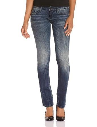 G-Star Women's Midge Straight Jeans, Right Hand Twill Denim in Dark Aged, W24/L30