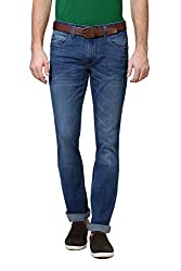 V Dot Men's Formal Trousers (8907445364600_VDDN316D03867_36W x 32L_Dark Blue Solid)
