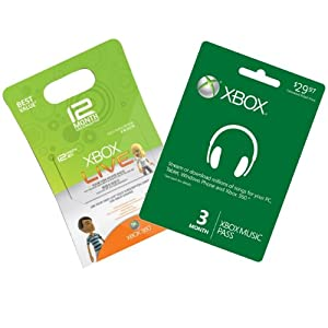 Amazon.com: Xbox Live 12-Month Gold + 3-Month Xbox Music