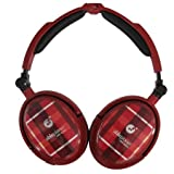 Able Planet XNC230 Extreme Foldable Noise Canceling Headphones (Red Plaid)
