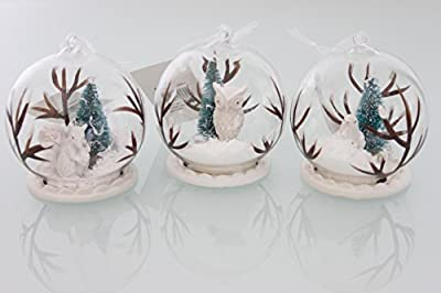 Wild animals in a Glass Ball 3 assorted - New for 2015