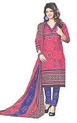 Amin Women's Cotton Dress Material 5001_Multicoloured_Freesize