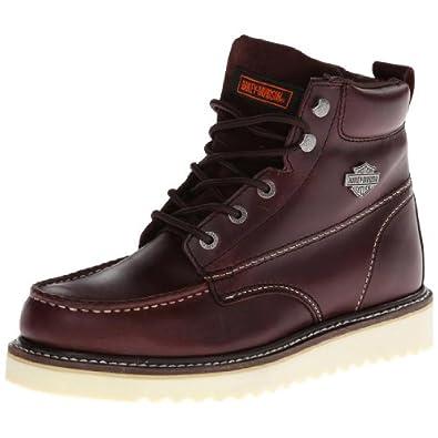 Mens Harley Davidson Top Grain Leather Shoes Rubber Outsole Zipper D93135 Beau