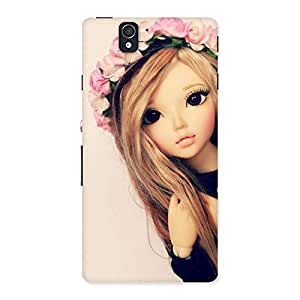 Enticing Pink Rose Doll Back Case Cover for Sony Xperia Z