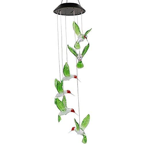 Solar Hummingbird Wind Chime