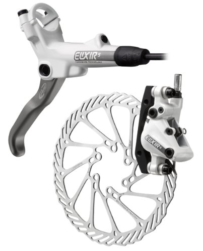Avid Elixir 5 Rear Disc Brake with Right Lever (160mm HS1 Rotor, 1600mm Hose)- White