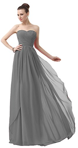 Vania Women Chiffon Sweetheart Bridesmaid Evening Dress Prom Gown V003