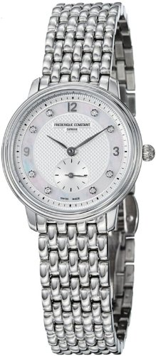 Frederique Constant Women's FC235MPWD1S6B Slim Line Stainless Steel Bracelet Watch
