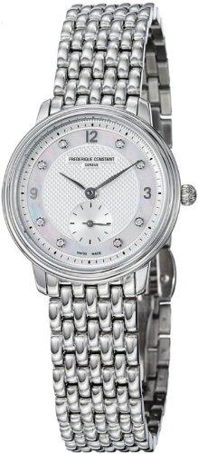 Frederique Constant Women's FC235MPWD1S6B Slim Line Stainless Steel Bracelet Watch