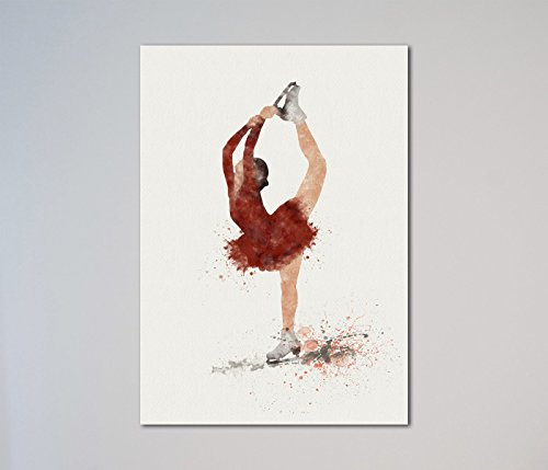 Ice Skating Sport Girl Figure Skating Print (Ice Skating Gifts For Girls compare prices)