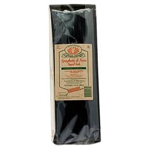 Rustichella D' Abruzzo Spaghetti Di Nero Black Squid Ink Pasta 17.6 Oz.