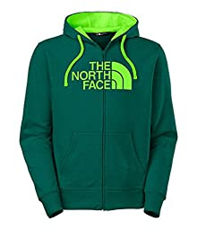 The North Face Men\'s Half Dome Full Zip Hoodie (Large, Depth Green Heather/Power Green)