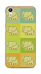 Amez designer printed 3d premium high quality back case cover for HTC Desire 626 G (Elephants colorful cool drawing)