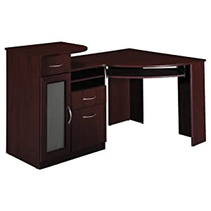 Amazon Com Bush Furniture Vantage Corner Desk Harvest