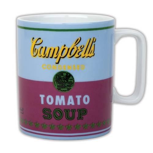 Andy Warhol: Cambells Soup Mug - red violet