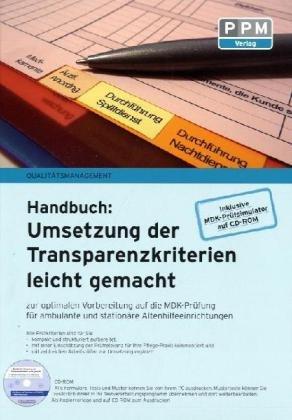 Umsetzung der Transparenzkriterien leicht gemacht von Birger Schlürmann