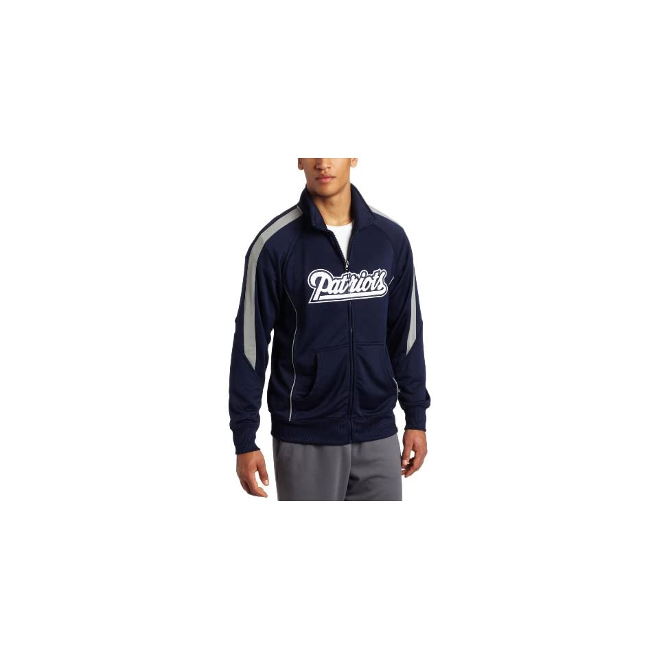 NFL Mens New England Patriots Tailgate Time Track Adult Long Sleeve Full  Zip Track Jacket ( 874d18cf2