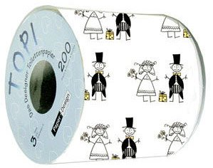 One Roll of Wedding Print Toilet Paper