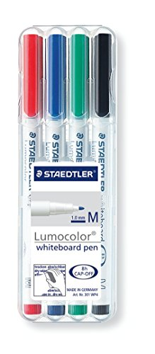 staedtler-301-lumocolour-dry-wipe-whiteboard-pen-assorted-colours-pack-of-4