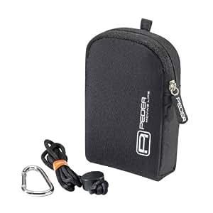 PEDEA Kameratasche für Canon IXUS 132 / 155 / 140 / 255 H, Sony DSC-W730 / DSC-WX220 / Samsung DV150F, Sony DSC-WX220 mit Displayschutzfolie, schwarz