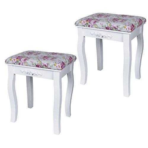 Ikea Malm Bett Schrauben Passen Nicht ~ Songmics rose hocker Echtholz Polster Sitzbank mit 2 hockertafeln und