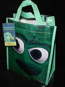 558986S Disney/Pixar Monsters, Inc. 3D Treat Bag Sulley Monster Face Blue Bag by Kellogg