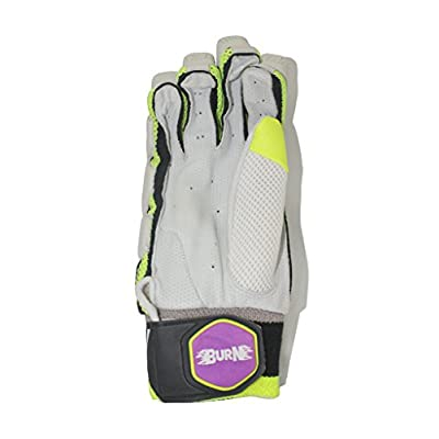 Burn LE-10000 Left Hand Batting Gloves-Mens (White/Purple)