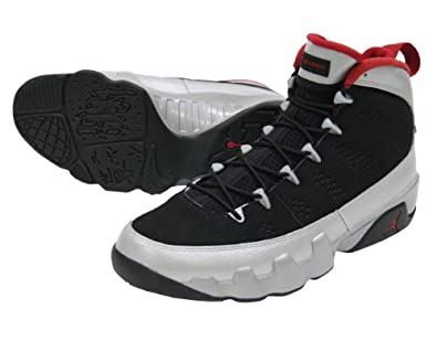 Mens Nike Air Jordan 9 Retro Johnny Kilroy Limited Edition Basketball Shoes Black / Gym red / Metallic Platinum 302370-012 Size 8