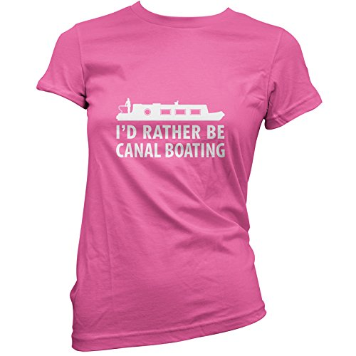 Id-Rather-Be-Canal-Boating-Womens-T-Shirt-11-Colours
