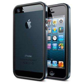 SGP+iPhone5+ケース+ネオ・ハイブリッド+EX+メタル+シリーズ+前面・裏面液晶保護フイルム付+for+iphone5+(メタル+スレート)