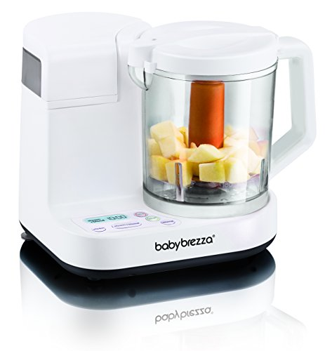 Baby Brezza Food Maker Glass Large 4 Cup Capacity, White (Blender Baby compare prices)
