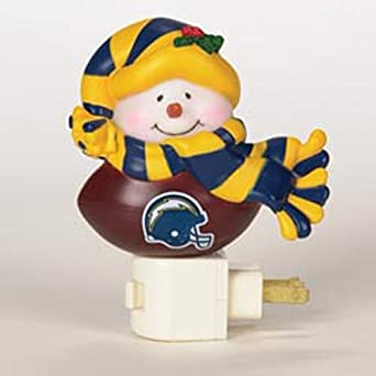 San Diego Chargers Snowman Night Light