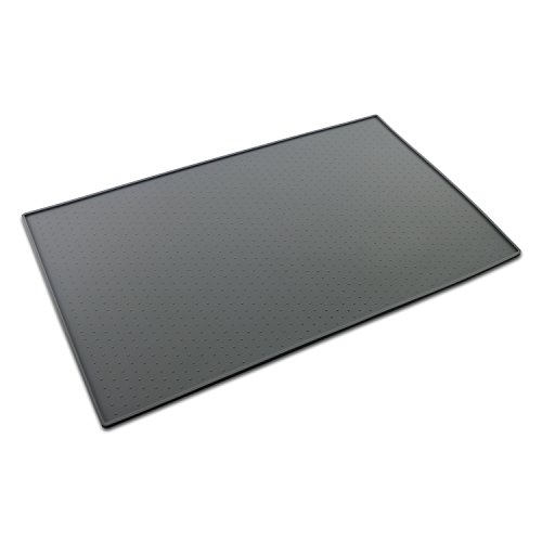 ONME Dog Feeding Mat, FDA Grade Silicone Waterproof Pet Food Mat, Non Slip Dog Bowl Placemat, Grey (Wet Dog Mat compare prices)