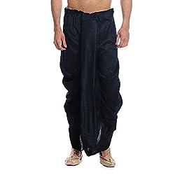 Tag 7 Mens Silk Blend Dhotis (DH05_Black_Free Size)