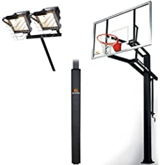 Goalrilla GLR GSI 72 Basketball System with Pole Pad and Deluxe Hoop Light by Goalrilla