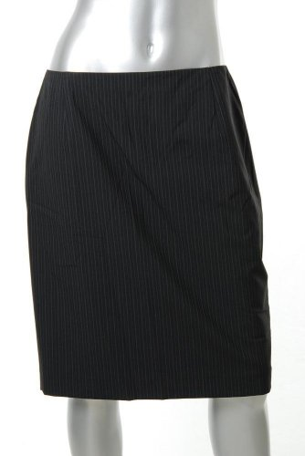 Elie Tahari Cindy Black Pinstriped Pencil Skirt Sale 6