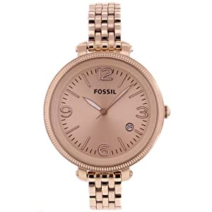 fossil s es3130 stainless steel analog gold