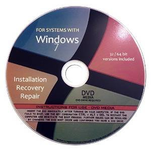 Windows 7 All in One (Starter, Home Basic, Home Premium, Professional, Ultimate) 32/64 Bit Repair, Recovery, Restore, Re-install DVD (Windows 7 Repair compare prices)