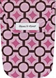 Diapees and Wipees Accessory Bag - Mod Maze Pink
