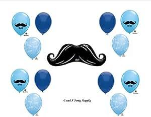 Anagram LITTLE MAN MUSTACHE BABY SHOWER Balloons Decorations Supplies....13 pieces!