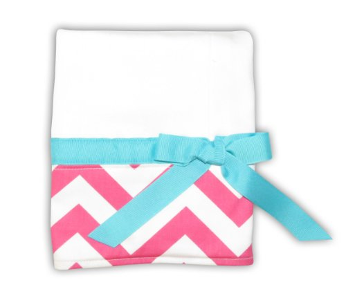 Caught Ya Lookin' Chevron Baby Burp Cloth, Pink And White front-809230